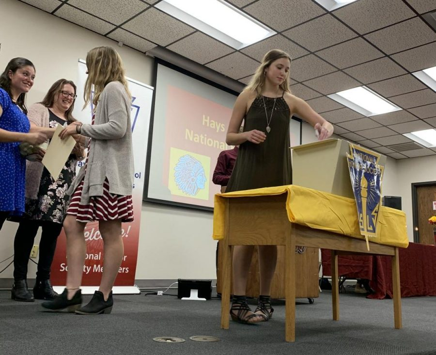 National Honor Society's 2019 Induction on Tuesday, Nov. 5.