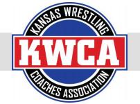 Logo of the Kansas Wrestling Coaches Association.