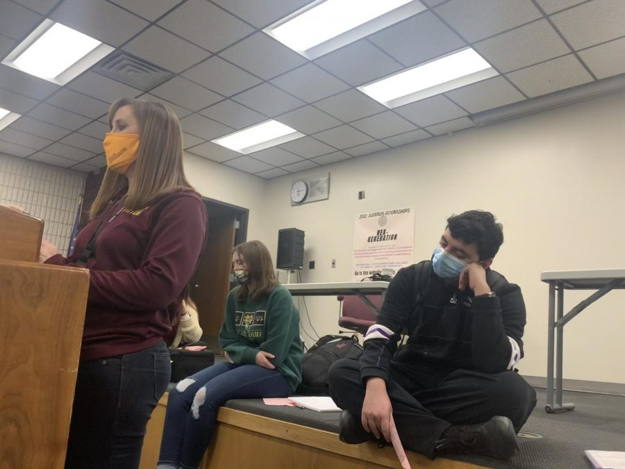 Science Olympiad held their first meeting during PRIDE Time in the Lecture Hall.
