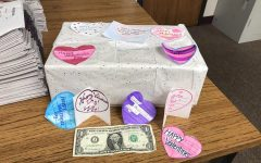 Augustine's PRIDE Time donates valentines for nursing home residents.