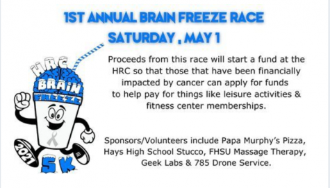 The first annual Brain Freeze Event will be held on Saturday, May 1st. HRC asked for Hays High StuCo members to help volunteer during the event.