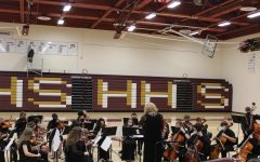 Orchestra's April 1st, 2021 ice cream concert was held in Gym A.