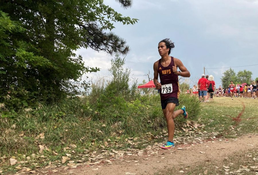 Sophomore Leo Hernandez races at Lake Barton on September 2. Hernandez placed 21st in the varsity race.