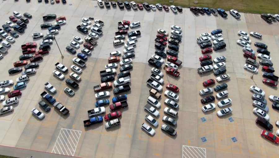 Student parking lot undergoes changed design