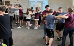 Students learn traditional German dance on Friday, Sept. 24 through a Zoom conference.