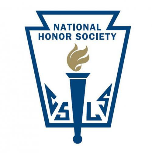 The National Honor Society logo has the letters C, S, L, and S, which stand for the pillars of NHS, character, scholarship, leadership, and service. The torch in the middle represents  the search for truth.